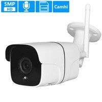 5MP H.265 Wireless WiFi Camera Audio Motion Detection Metal Waterproof Outdoor IR Night Vision 32GB Card ONVIF P2P Camhi WiFi