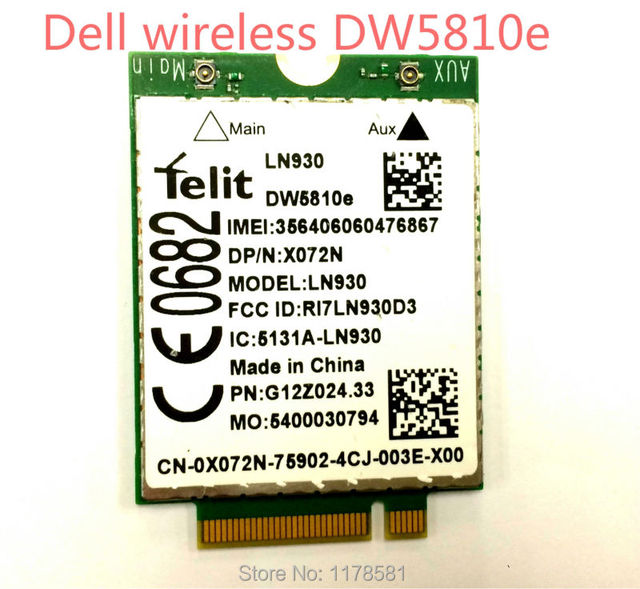 LN930 DW5810e 4G Wireless LTE Mobile WWAN Card 4G/LTE/DC-HSPA+ 4G Card wireless module