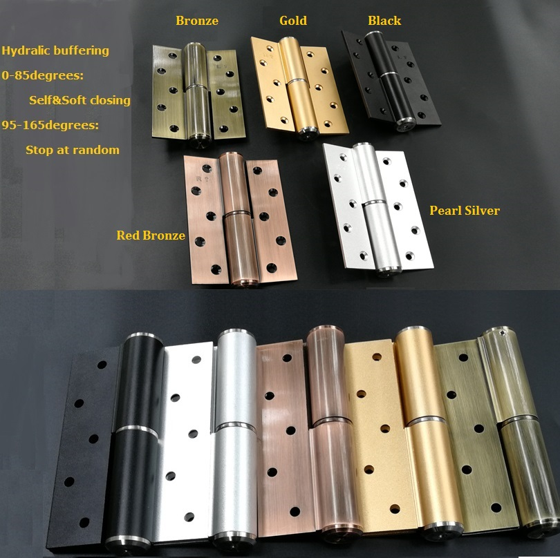 2Pcs/Lot 5 Hydraulic soft self closing door hinge stay at random dsha hot 10x soft close kitchen cabinet door hinge hydraulic slow shut clip on plate