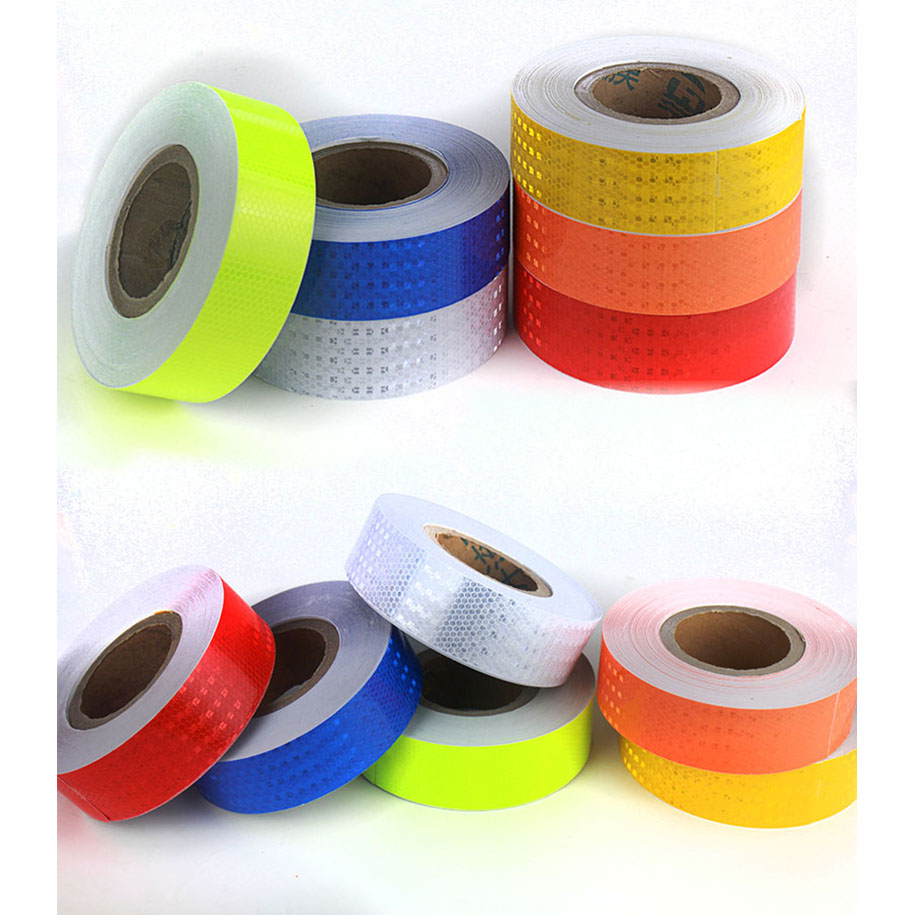 Reflective Material 25mm X 5m Safety Mark Reflective Tape Stickers Car-styling Self Adhesive Warning Tape Automobiles Motorcycle Reflective Film 100% Original