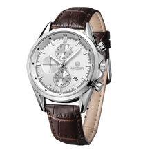 Masculino Relojes MEGIR Marca Clásica de La Vendimia de Los Hombres Correa de Cuero Impermeable Reloj Del Cuarzo Del Deporte Militar Reloj relogio masculino