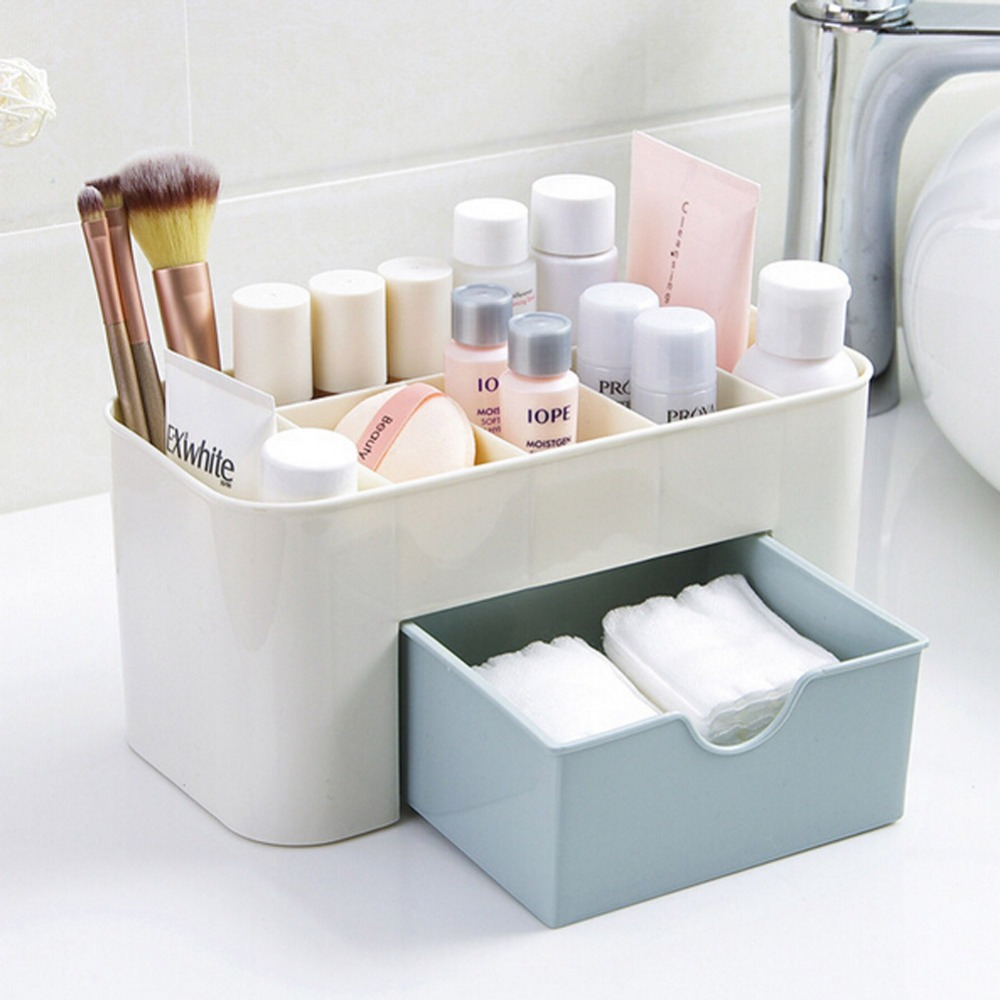 freeshiping Cosmetic Jewelry Organizer Office Storage Drawer Makeup Case Plastic Makeup  ...