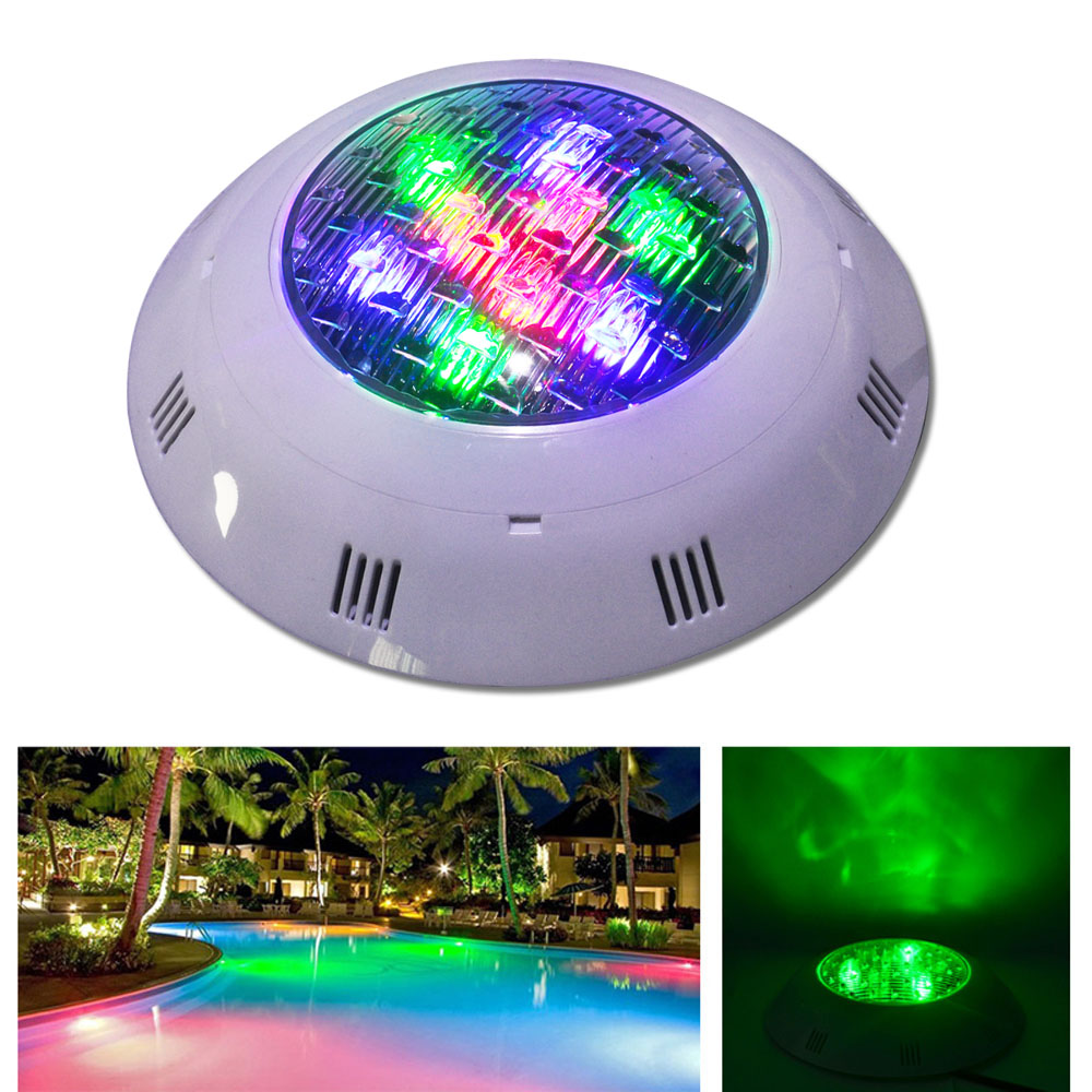 Jiawen 9W 12W RGB Swimming LED Pool Lights Underwater Lamp Outdoor Lighting Pond lights led piscina Lamp DC 24V 10pcs outdoor underwater rgb led pool light led piscina flood spot light lamp 12v10w ip68 24key ir remote swimming pool party