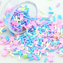 20 Gram Fimo Clay Pink Blue Yellow Unicorn Fake Sprinkles|Slime Filling Sprinkles|Fake Cake Topping Polymer Sprinkles