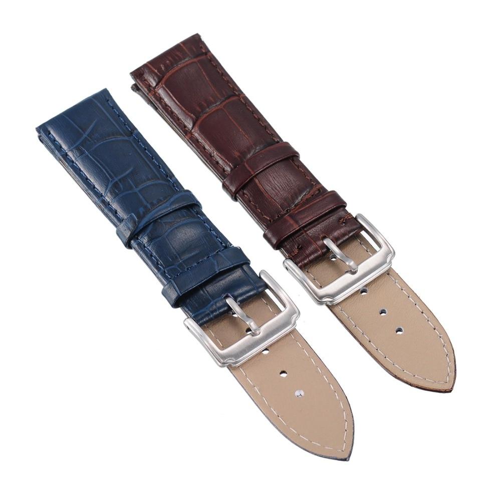 2016 High Quatity Fashion New Men s Women s Genuine Leather Steel Clasp Buckle Wrist Watch