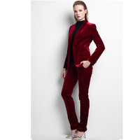 Women Suit Custom Business Lady Suits OL Business Attire Winter High Quality Velvet Western Style Long