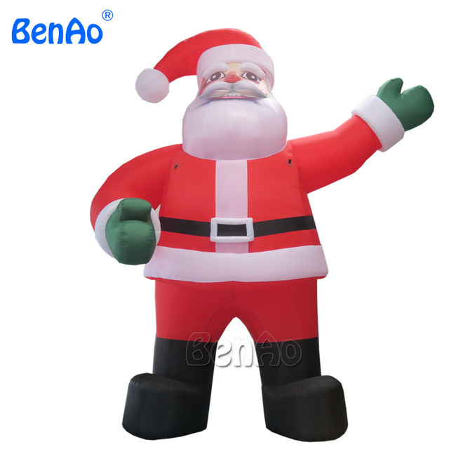 x070 7m hight hot sale inflatable christmaslowes christmas inflatables inflatable santa claus decorations