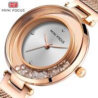 MINIFOCUS Women Watches Luxury Brand Fashion Ladies Watch Waterproof Relogio Feminino Rose Montre Femme Gold Stainless Steel New
