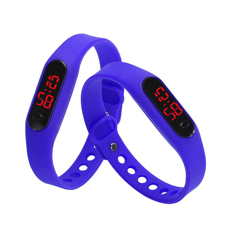 Men's Black Sports Digital Fashion Bracelet LED Display Silicone Women's Outdoor Casual Watch Simple Gift