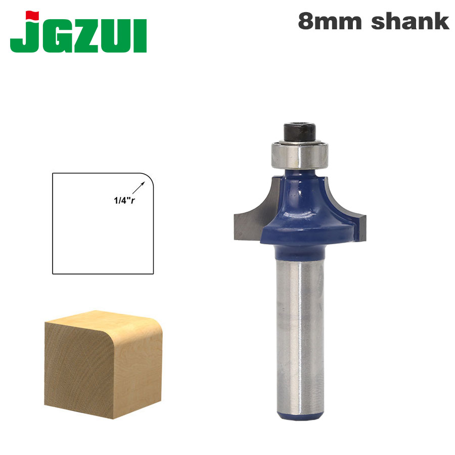 1pcs 8mm Shank wood router bit Straight end mill trimmer cleaning flush trim corner round cove box bits tools Milling Cutter 1pc 6 35mm shank template trim hinge mortising router bit straight end mill trimmer cleaning flush trim tenon cutter