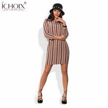 2019 Spring Sexy Women Striped Dresses Summer Ladies Long Sleeve Office New Dress Casual Bodycon Work Wear Slim Dress Vestidos