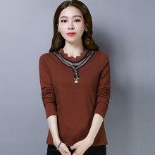 shintimes Hollow Out T Shirt Women 2019 Tee Femme Long Sleeve Tshirt Female T-Shirt Cotton Korean Clothes Womens Clothing