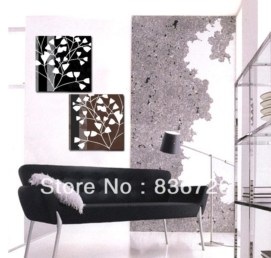 free shipping 2 piece canvas wall art office black and white pictures abstract art decor drawing modern wall decor home decor art drawing office