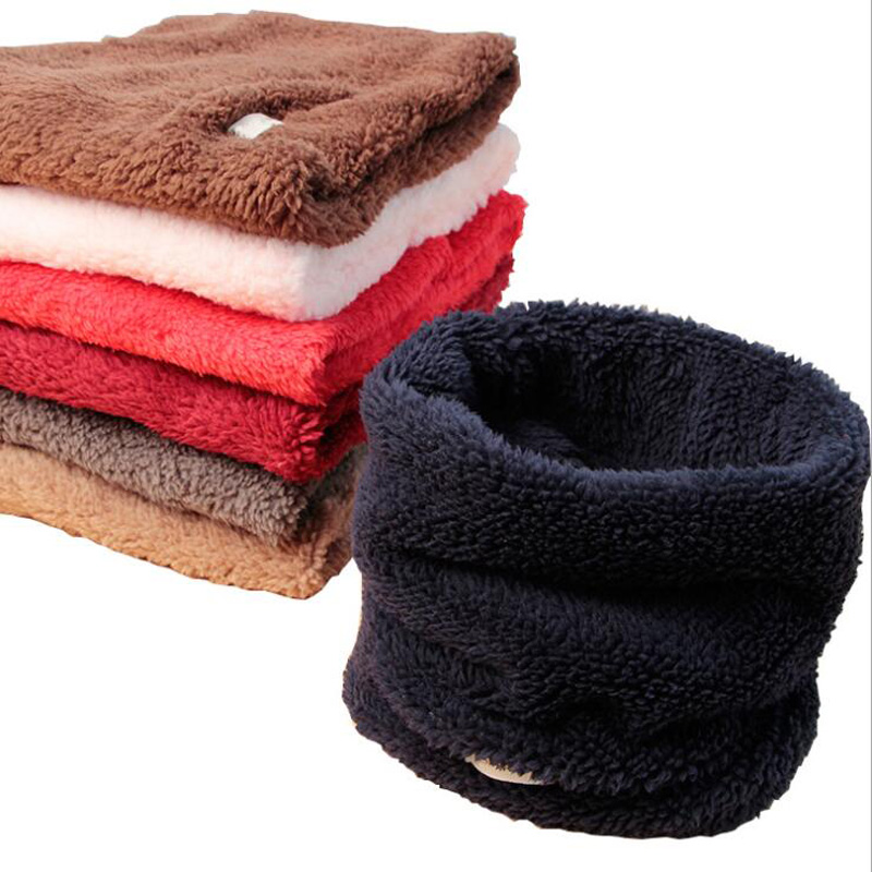New Pure Children's Scarves Boys Plush Thick Collar Baby Cashmere Collar Scarf