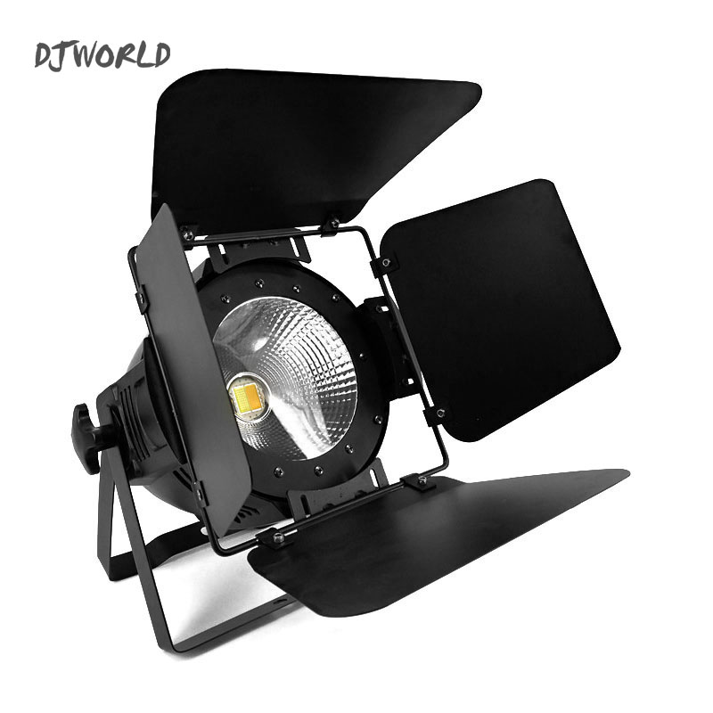 LED 200W COB LED Par Aluminum Alloy With Barn Doors Cool or Warm White 2IN1 Lighting Lamp dmx For Stage Effect DJ Disco Lighting show plaza light stage blinder auditoria light ww plus cw 2in1 cob lamp 200w spliced type for stage