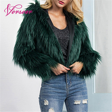 Fashion Women Winter Crop Faux Fur Hooded Coat Long Sleeve Fluffy Fur Jacket Party Streetwear Outerwear manteau femme hiver цены онлайн
