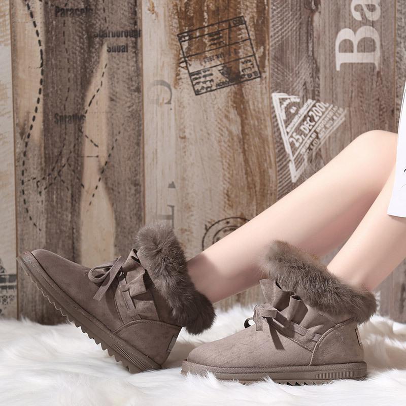 Caliente 3 Invierno Botas Negro Zapatos Cuña Patchwork Nieve Plataforma Fur Mujer 2 De Boot Faux Moda 2018 1 qE7Txx