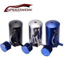Купить с кэшбэком SPEEDWOW 500ml Aluminum Alloy Reservoir Oil Catch Can Tank Round With Breather Filter Universal Black/Blue/Red/Silver