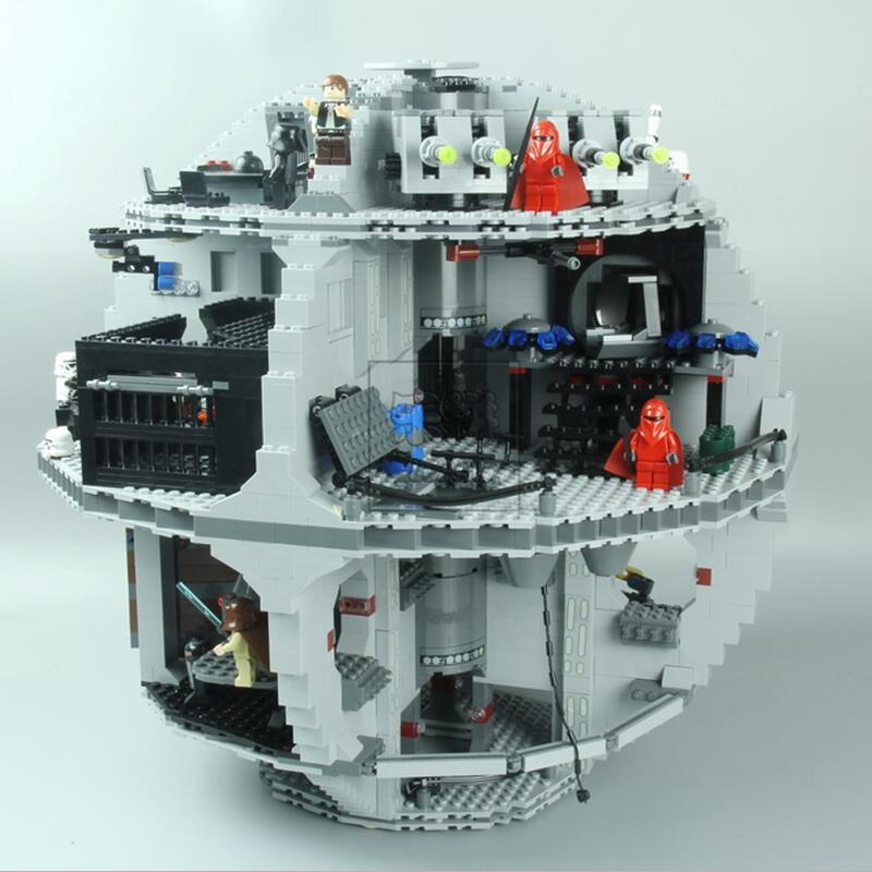 DHL 05035 Stara Wars Death Star 3804 pcs Building Block Bricks Brinquedos Compatíveis Kits 10188 Crianças Educacionais