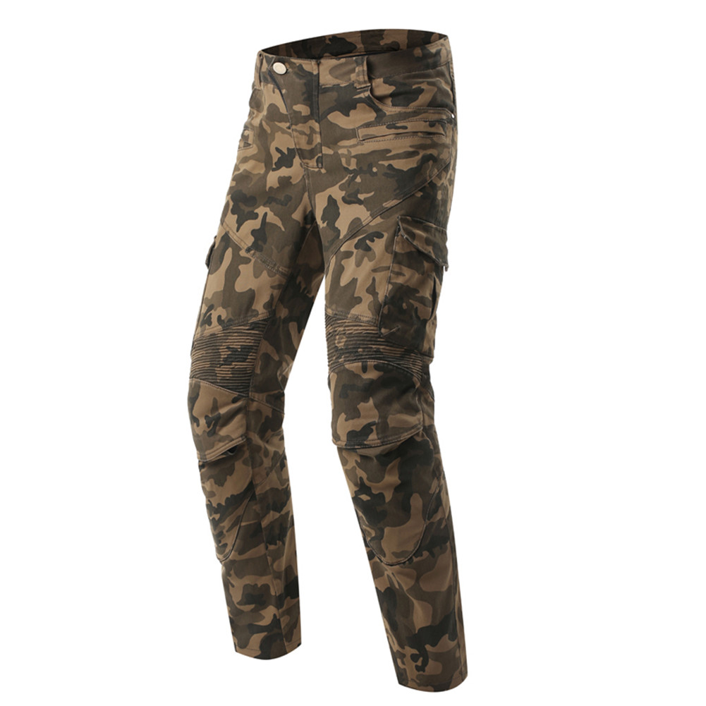 Scoyco Camouflage Protective Jeans Knee Protector Rider Pants With CE Kneepad Motorcycle Racing Trousers Leisure Pantalones Moto scoyco motorcycle riding knee protector bicycle cycling bike racing tactal skate protective gear extreme sports knee pads