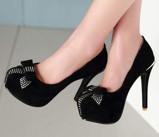Zapatos Tacon Alto Grises