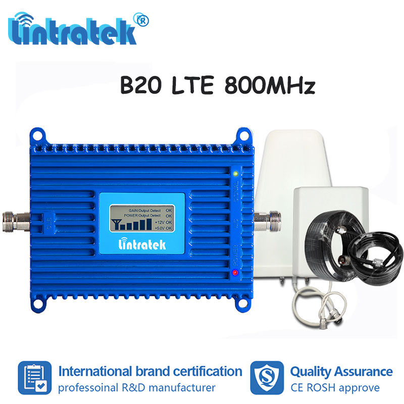 B20 4G LTE 800MHz Mobile Phone Signal Booster 70dB High Gain LCD Cellphone Repeater 4G ALC Cellular Amplifier Full kit S8-2B20 4G LTE 800MHz Mobile Phone Signal Booster 70dB High Gain LCD Cellphone Repeater 4G ALC Cellular Amplifier Full kit S8-2