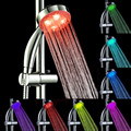 7 Cambio de Color DEL LED Cascada de Baño de Agua Ligera Cabeza de Ducha Romántica Ducha Rociadores Baño Baño Sistema de La Ducha de Reemplazo