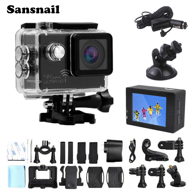 Sansnail Sj8000 4K Camera Ultra HD Novatek 96660 Action Cam WiFi 2.0 LCD Sports Camcorder Camera 30 Waterproof Mini DV Camera
