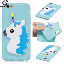 3D silicone cute cartoon unicorn dog cat phone cover case For iphone 5 5s SE 6 6S 6Plus 6splus 7 8 7plus Silicon case For iphone