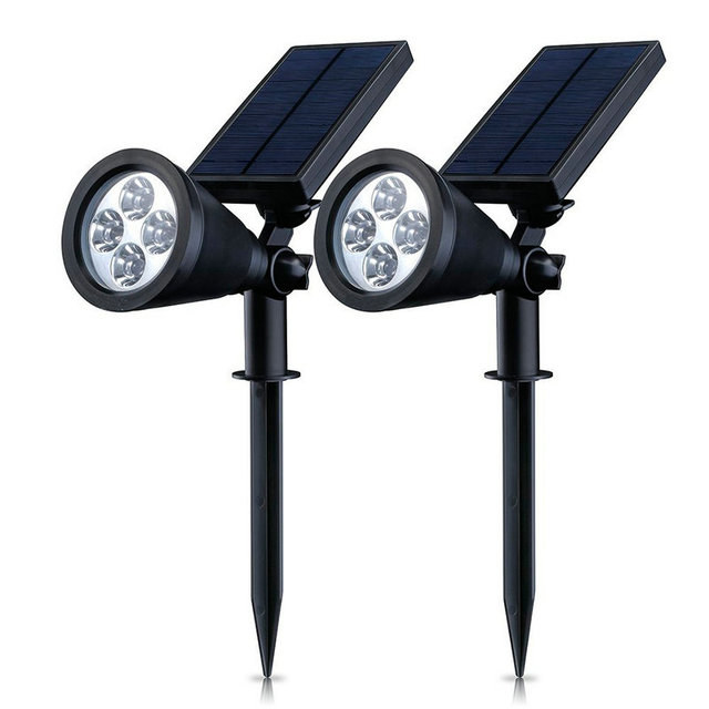 Led solar powered spotlight rechargeable lawn lights waterproof led solar powered spotlight rechargeable lawn lights waterproof outdoor wall pathway stake lighting for landscape workwithnaturefo