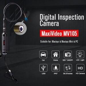 Image 2 - Autel MaxiVideo MV105/108ยานยนต์กล้องตรวจสอบ5.5/8.5มม.ภาพหัวทำงานร่วมกับMaxiSys PCบันทึกภาพรถยนต์
