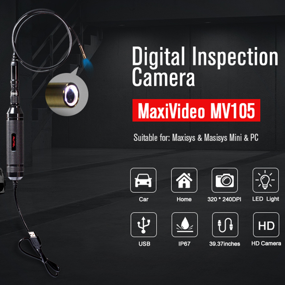 Image 2 - Autel MaxiVideo MV105/108 Automotive Inspection Camera 5.5/8.5 mm Image Head Work with MaxiSys PC Record image car diagnostic