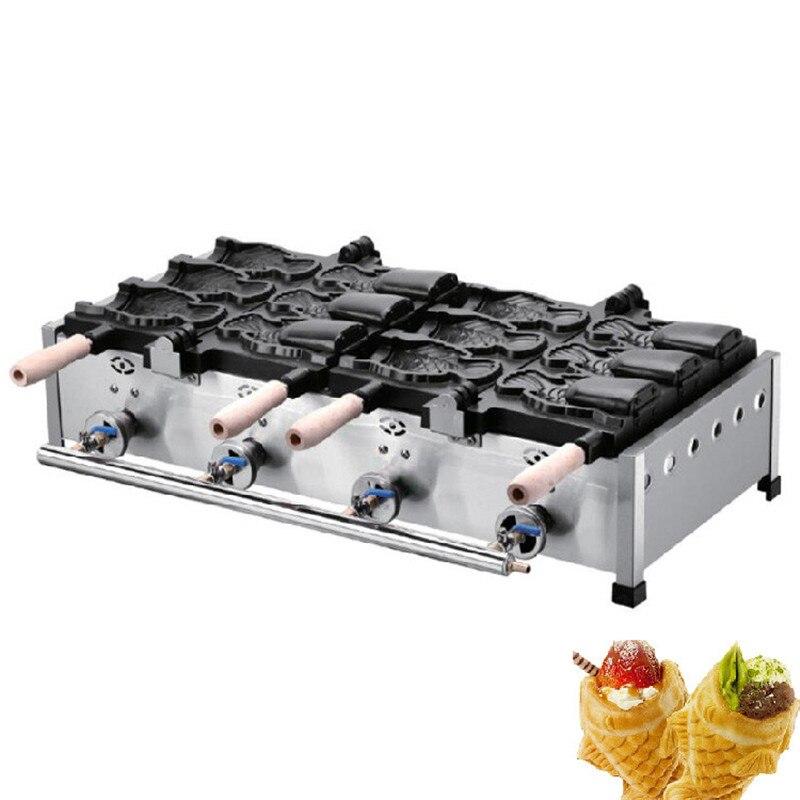 BEIJAMEI gas gelato aperto bocca di pesce waffle maker machine/GPL taiyaki fare maker prezzo commerciale