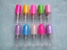 Livraison gratuite 50 pièces/lot 4ml bouteilles de vernis à ongles en plastique avec bouchon à vis avec brosse pour les enfants utilisent des bouteilles vides de brouillard pour ongles à faire soi même