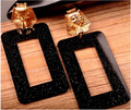 Pyramid  Pharaoh  Glitter Acrylic Square Trendy Women Earrings  8pairs/lot  Fashionable Acrylic Hallow Out Stud Earrings