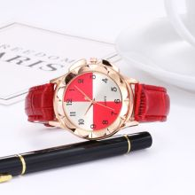 Hot running time to run ladies creative quartz watch Fashion casual leather strap student watch