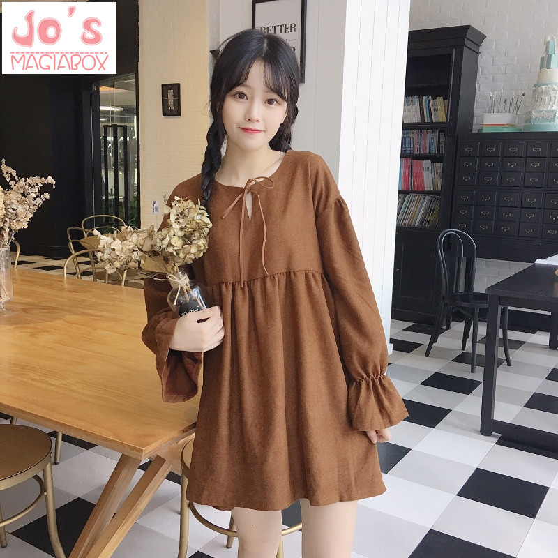 Women Mini Black Casual Dress Summer Loose Cotton Long Sleeves Dresses Harajuku Dress Kawaii Solid LYQ604 Платье