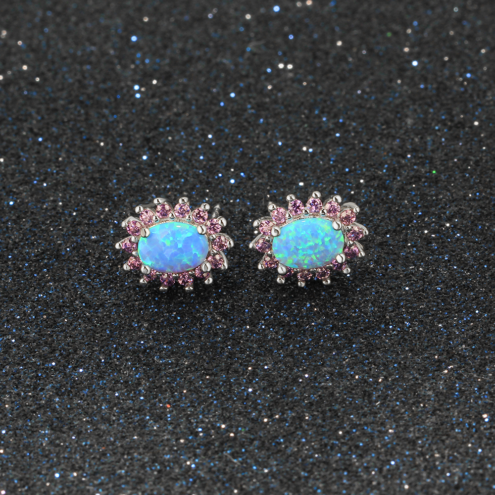 natural gold opal real heart stud l studs earrings