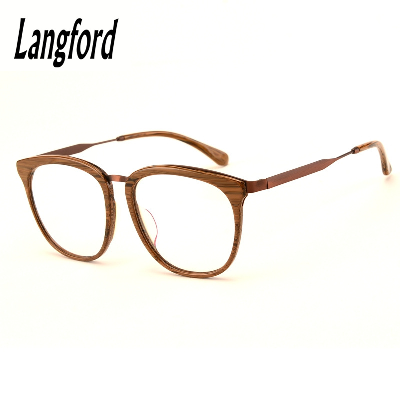 big wood eyeglasses frame optical acetate glasses oversize