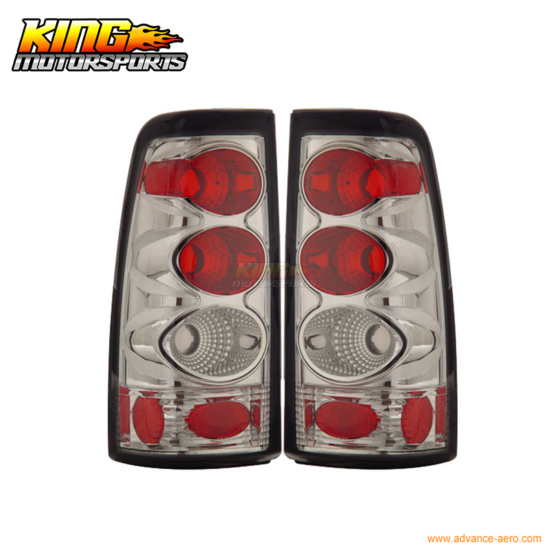 for 2005 2007 06 chrysler 300 300c led tail lights black lamps usa domestic free shipping For 99-02 Chevy Silverado Sierra Tail Lights Chrome Lamps USA Domestic Free Shipping