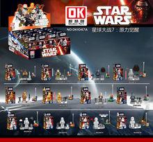 12 Шт. Строительные Блоки Super Heroes MiniFigures Звездные войны MiniFigures Сила Пробуждается Дарт Вейдер Чубакка C3PO Solider Рисунок