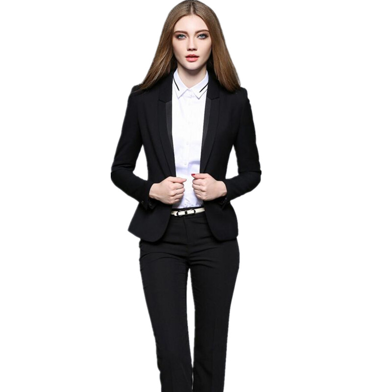 Bouton Marine Formelle Bureau 2 Choose Travail Fit Ensemble Élégant Vintage Color Picture Un Pantalons Chart Femmes Slim As Pièce same Pantalon Costumes D'affaires Femme zqdxC