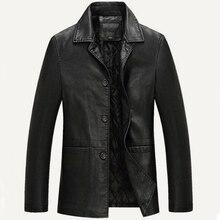 Skórzana kurtka mężczyźni miękka kurtka ze skóry sztucznej mężczyzna biznes płaszcze casualowe człowiek Jaqueta Masculinas Inverno Couro duży rozmiar XXXL 4XL