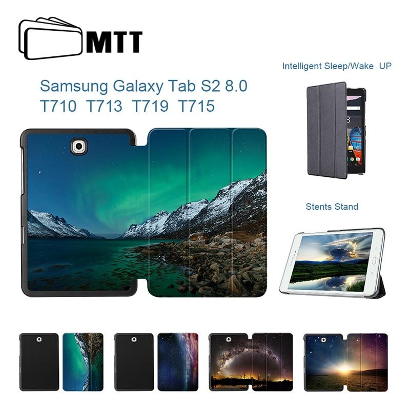 """Mtt Aurora Météor Haute Qualité En Cuir Pu Support Couverture Intelligente Pour Samsung Galaxy Tab S2 T710 T713 T715 T719 8.0 """"étui Pour Tablette Funda"""