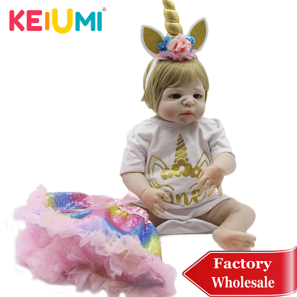 Adorable 23 Full Silicone Reborn Baby Dolls Collectible Reborn Menina Realistic Princess for Girl Birthday Gifts