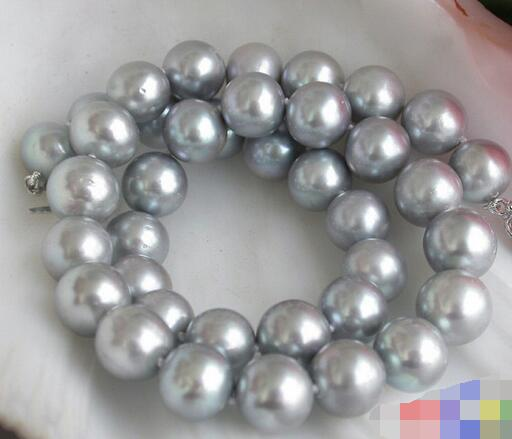 3535 ROUND GRAY FRESHWATER PEARL NECKLACE