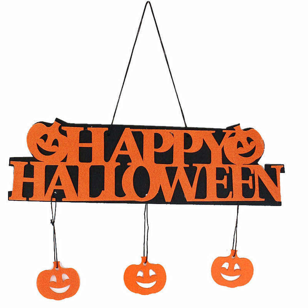 2018 Nova Halloween Bar KTV Decorativo Listados Listados Halloween Suprimentos Adereços de Layout Cena FELIZ DIA DAS BRUXAS Ventas de Dia Das Bruxas