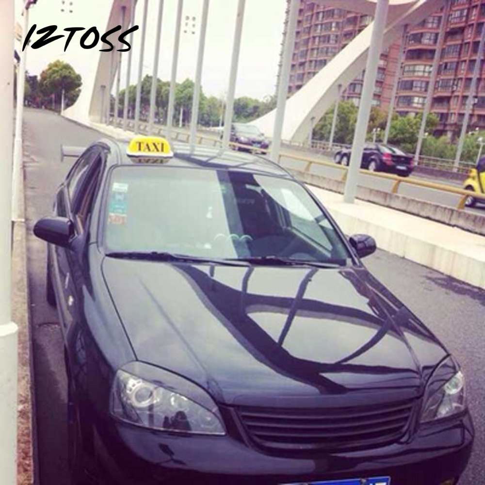 IZZTOSS Yellow Taxi Cab Roof Top Sign Light Lamp Magnetic Large-Size Car Vehicle Indicator Lights izztoss yellow taxi cab roof top sign light lamp magnetic large size car vehicle indicator lights