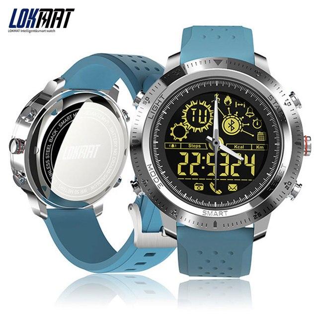 LOKMAT Bluetooth Montre Smart Watch Hommes En Plein Air Sport Podomètre Numérique Horloge Étanche IP68 Smartwatch Pour IOS Android Téléphone
