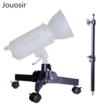 Heavy duty background light stand studio background lamp holder pulley folding  dolly CD50